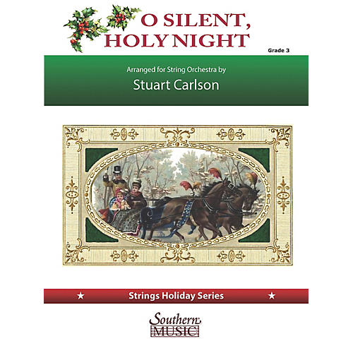 Southern O Silent, Holy Night (for String Orchestra) Southern Music Series Softcover by Stuart Ross Carlson-thumbnail