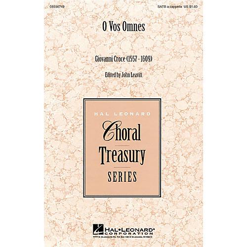 Hal Leonard O Vos Omnes SATB a cappella arranged by John Leavitt