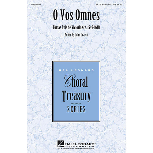Hal Leonard O Vos Omnes SATB a cappella composed by Tomás Luis de Victoria-thumbnail