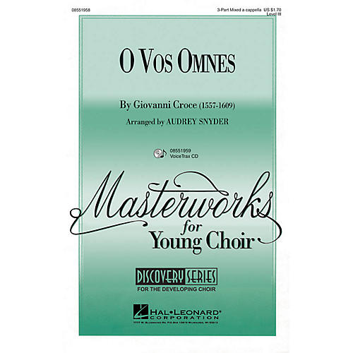 Hal Leonard O Vos Omnes VoiceTrax CD Arranged by Audrey Snyder-thumbnail