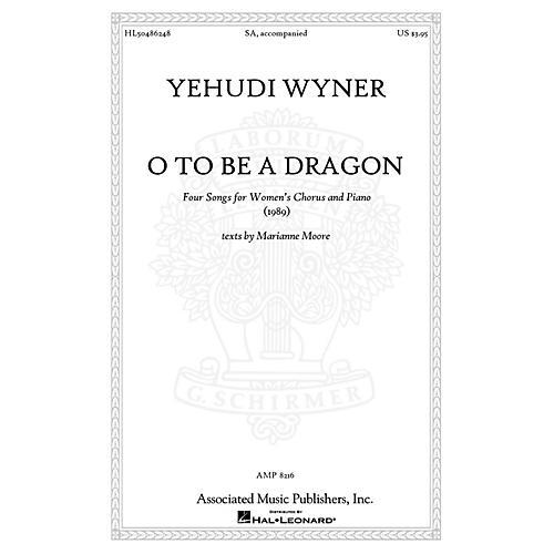 Associated O to Be a Dragon SA composed by Yehudi Wyner-thumbnail