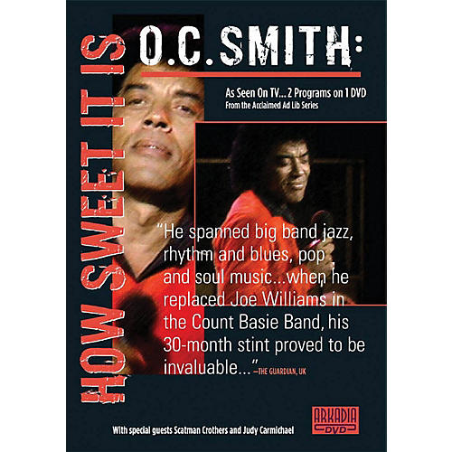 Hal Leonard O.C. Smith - How Sweet It Is (Visions of Jazz Series) DVD Series DVD Performed by O.C. Smith-thumbnail
