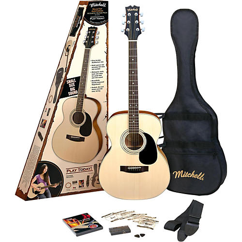 Mitchell O120spk Acoustic Guitar Value Package Natural