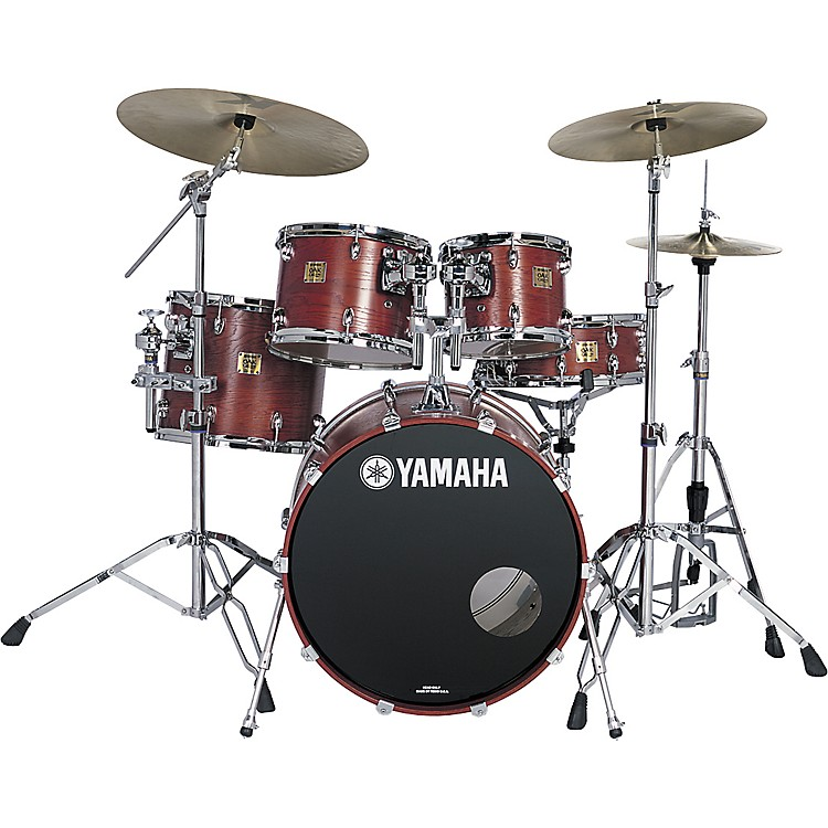 Yamaha oak custom fusion matte 5 piece drum kit musician for Yamaha dtx450k 5 piece electronic drum kit