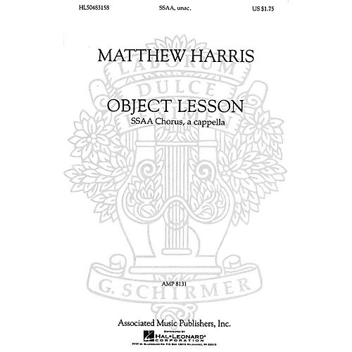 Associated Object Lesson (SSAA a cappella) SSAA A Cappella composed by Matthew Harris-thumbnail