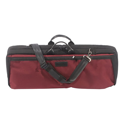 Mooradian Oblong Violin Case Slip-On Cover with Combination Straps Burgundy
