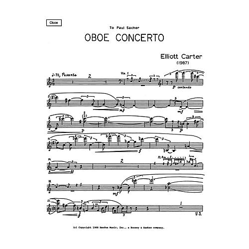 Boosey and Hawkes Oboe Conc (Solo Part Only) Boosey & Hawkes Chamber Music Series by Elliott Carter