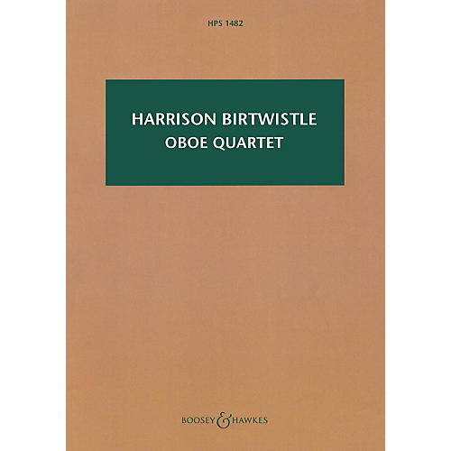 Boosey and Hawkes Oboe Quartet Boosey & Hawkes Scores/Books Series Softcover Composed by Harrison Birtwistle-thumbnail