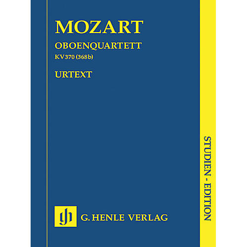 G. Henle Verlag Oboe Quartet F Major K.370 (368b) Henle Study Scores Series Softcover Composed by Wolfgang Amadeus Mozart-thumbnail