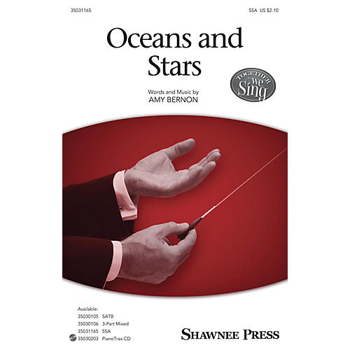 Shawnee Press Oceans and Stars SSA composed by Amy Bernon
