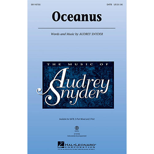 Hal Leonard Oceanus SATB composed by Audrey Snyder-thumbnail