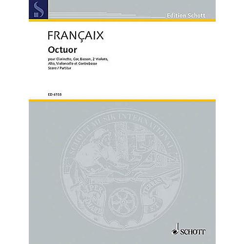 Schott Octet for Winds & Strings (Score) Schott Series by Jean Françaix-thumbnail