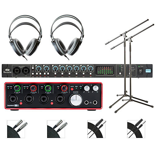 Focusrite OctoPre and 18i8 Recording Bundle with AKG M80mkII Headphones