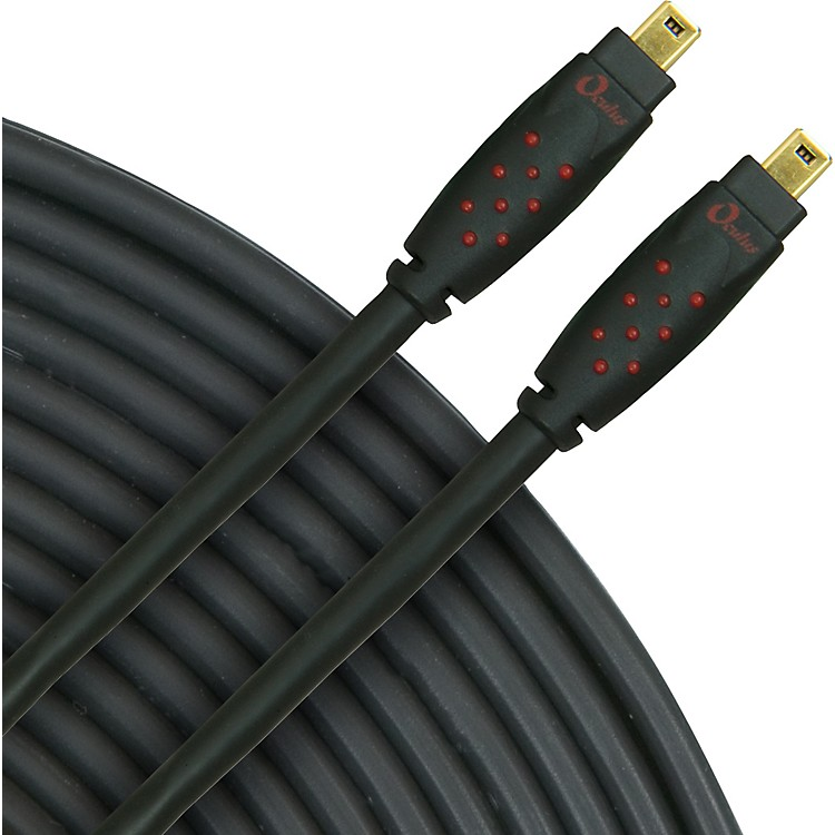 Rapco Horizon Oculus 4-Pin to 4-Pin Firewire Cable, Series 6, Eco-Friendly Black 3 Meter