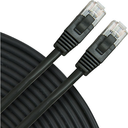 Rapco Horizon Oculus Cat5e Patch Cable Black 5 ft.