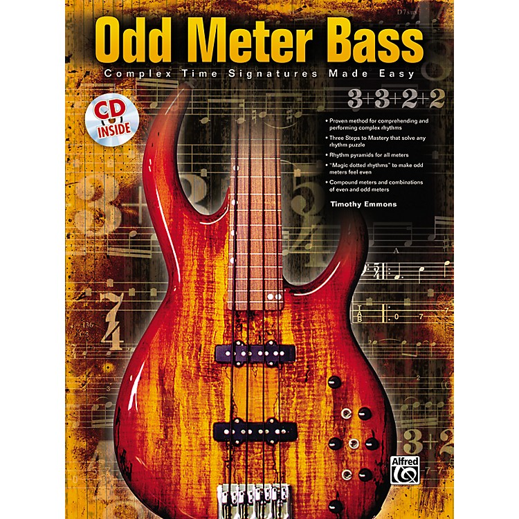 Alfred Odd Meter Bass: Complex Time Signatures Made Easy - By Tim Emmons (Book/CD)