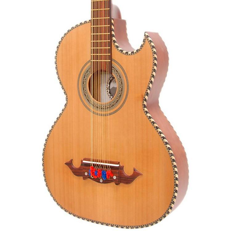 Paracho Elite GuitarsOdessa-P 10 String Acoustic-Electric Bajo QuintoNatural