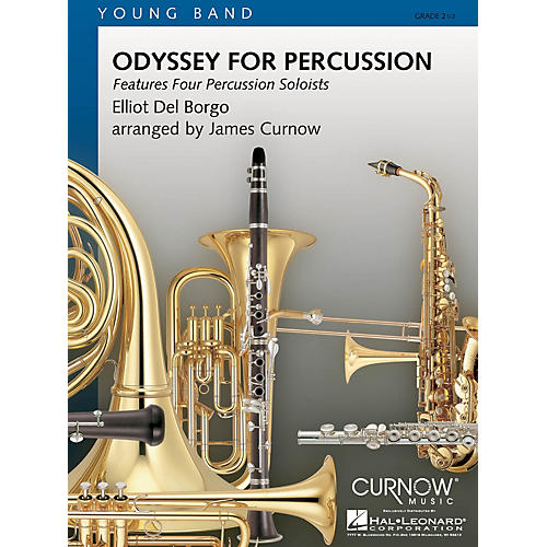 Curnow Music Odyssey for Percussion (Grade 2.5 - Score Only) Concert Band Composed by Elliot Del Borgo