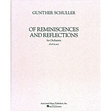 Associated Of Reminiscences and Reflections (Full Score) Study Score Series Composed by Gunther Schuller