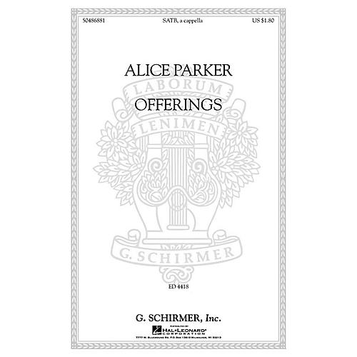 G. Schirmer Offerings SATB a cappella composed by Alice Parker-thumbnail