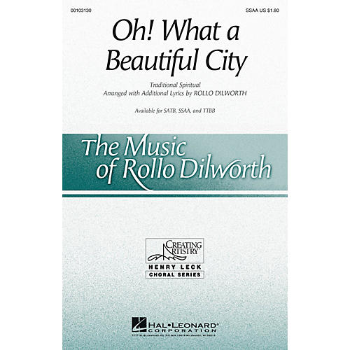 Hal Leonard Oh! What a Beautiful City SSAA arranged by Rollo Dilworth-thumbnail