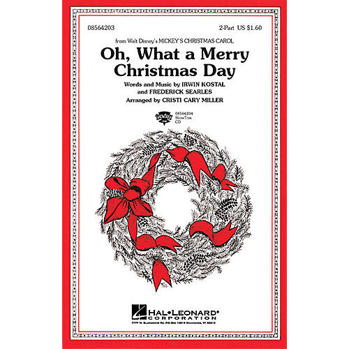 Hal Leonard Oh What a Merry Christmas Day (from Mickey's Christmas Carol) 2-Part arranged by Cristi Cary Miller-thumbnail