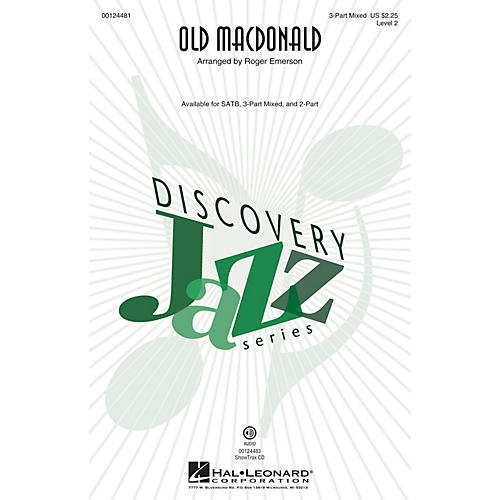 Hal Leonard Old MacDonald (Discovery Level 2) 3-Part Mixed arranged by Roger Emerson-thumbnail