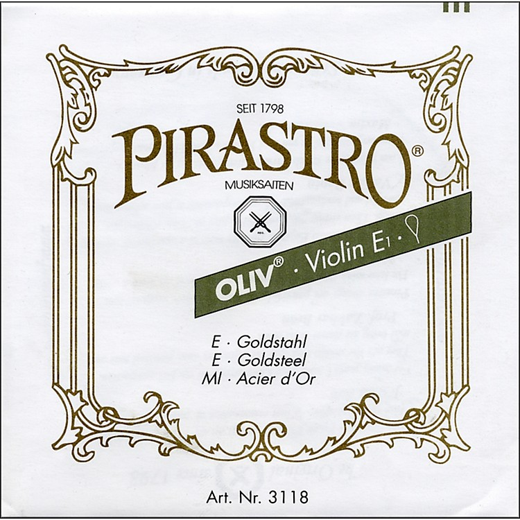 Pirastro Oliv Series Violin D String 4/4 - Silver 13-1/2 Gauge