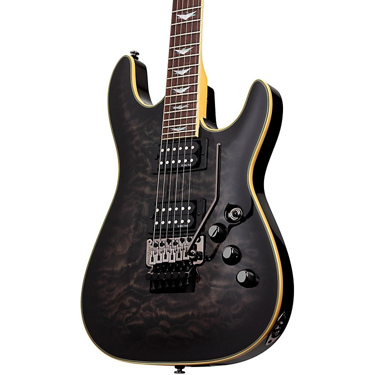 Schecter Guitar Research Omen Extreme-6 FR Electric Guitar See-Thru Black