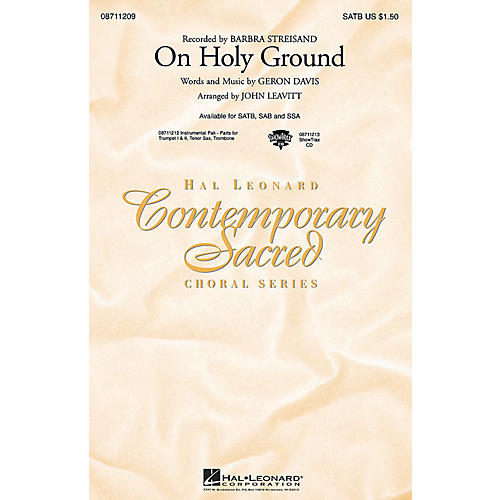 Hal Leonard On Holy Ground SATB by Barbra Streisand arranged by John Leavitt-thumbnail