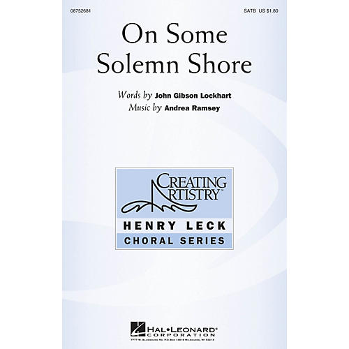 Hal Leonard On Some Solemn Shore SATB composed by Andrea Ramsey-thumbnail