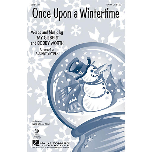 Hal Leonard Once Upon a Wintertime 2-Part Arranged by Audrey Snyder-thumbnail
