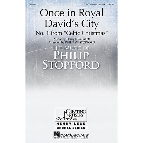 Hal Leonard Once in Royal David's City SATB Divisi arranged by Philip Stopford-thumbnail