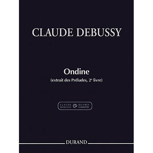 Durand Ondine (extrait des Préludes, 2e livre) Editions Durand Series Softcover-thumbnail