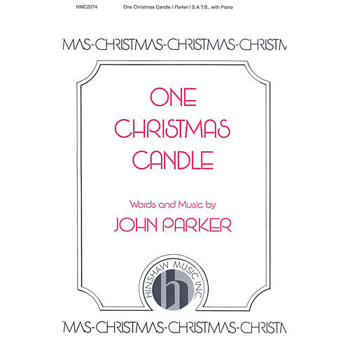 Hinshaw Music One Christmas Candle SATB composed by John Parker-thumbnail