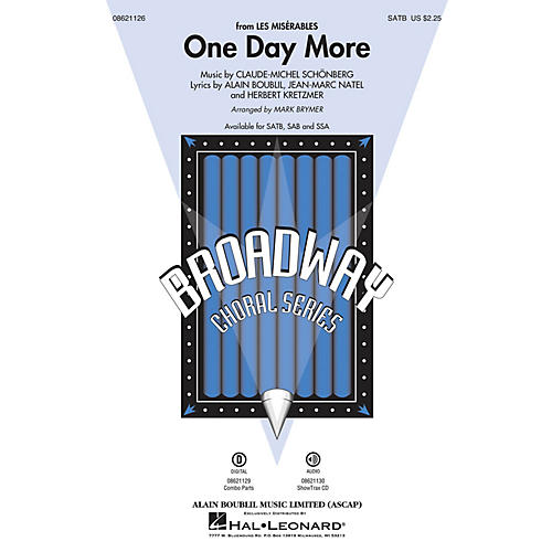 Hal Leonard One Day More (from Les Misérables) Combo Parts Arranged by Mark Brymer