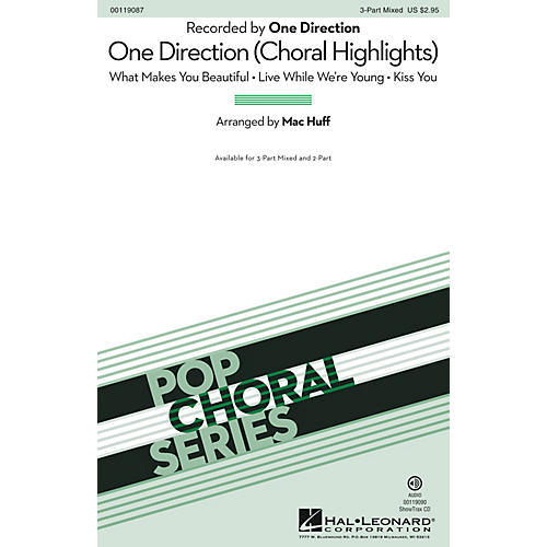 Hal Leonard One Direction (Choral Highlights) 3-Part Mixed by One Direction arranged by Mac Huff-thumbnail