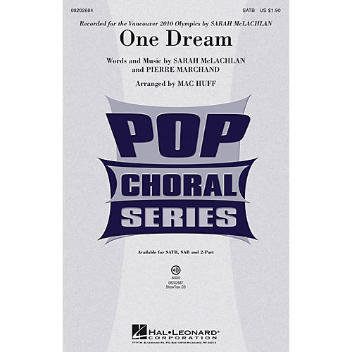 Hal Leonard One Dream ShowTrax CD by Sarah McLachlan Arranged by Mac Huff