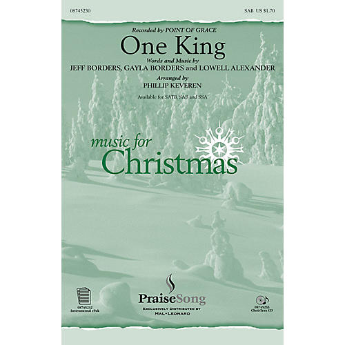 PraiseSong One King SAB by Point Of Grace arranged by Phillip Keveren-thumbnail