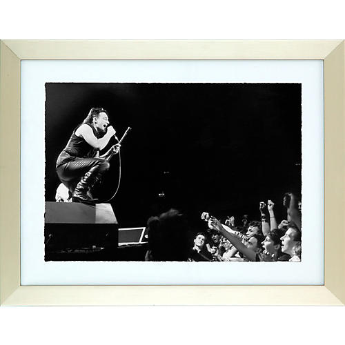 Hulton Archive One Love Bono and The Edge Black and White Framed Print 26