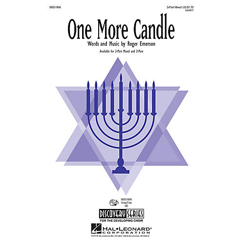 Hal Leonard One More Candle 3-Part Mixed composed by Roger Emerson
