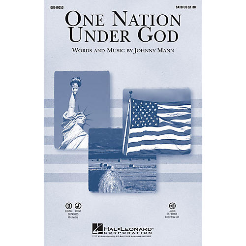 Hal Leonard One Nation Under God CHOIRTRAX CD Composed by Johnny Mann-thumbnail