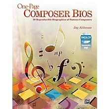 Alfred One-Page Composer Bios Book & Data CD