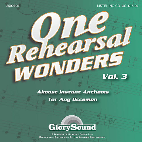 Shawnee Press One Rehearsal Wonders, Volume 3 Listening CD composed by J. Paul Williams-thumbnail