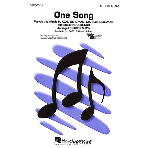 Hal Leonard One Song 2-Part Arranged by Kirby Shaw