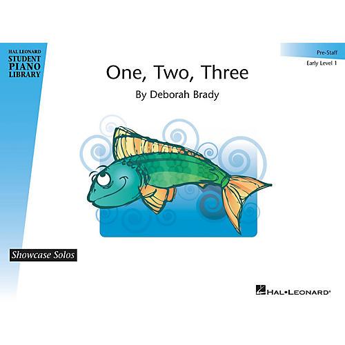 Hal Leonard One, Two, Three Piano Library Series by Deborah Brady (Level Early Elem (Pre-Staff))-thumbnail