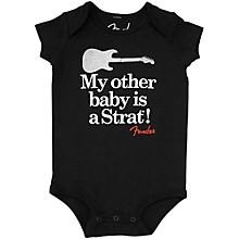 Fender Onesie My Other Baby is a Strat 6 Months Black
