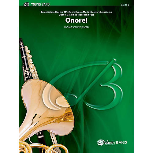 BELWIN Onore! Concert Band Grade 2 (Easy)-thumbnail
