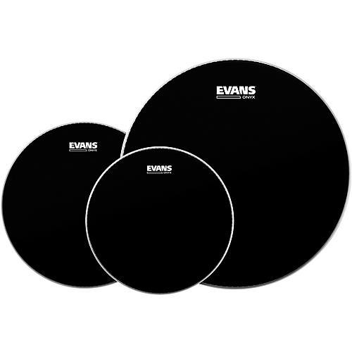 Evans Onyx 2 Drumhead Pack Rock - 10/12/16