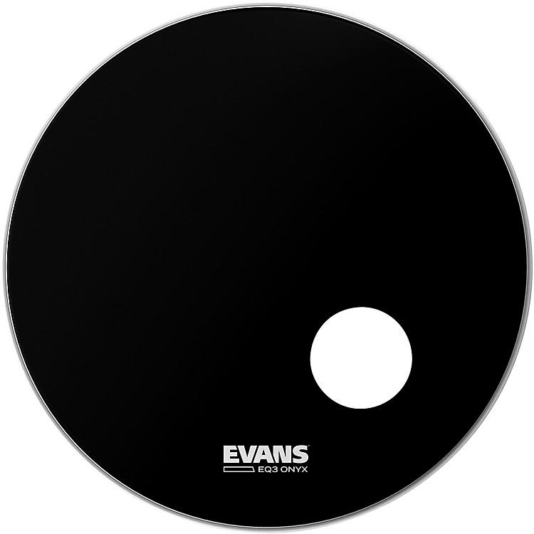 EvansOnyx Resonant Bass Drumhead22inch